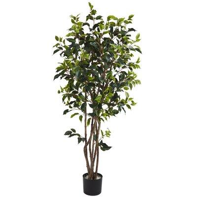 Nearly Natural Ficus Bushy Tree in Pot