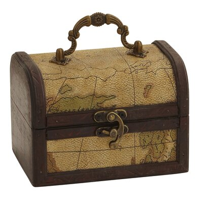 Nearly Natural Decorative Trunk Chests with Map Design
