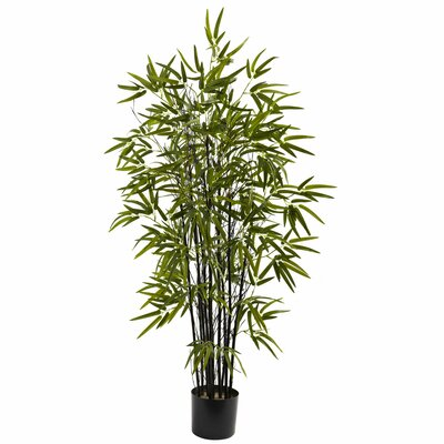 Black Bamboo Tree in Pot by Nearly Natural