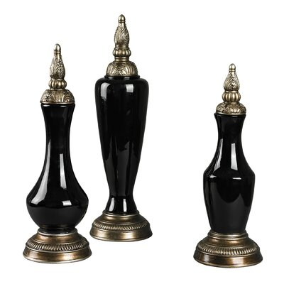 Sterling Industries 3 Piece Finial Decorative Urn Set