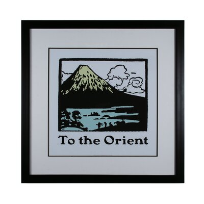 Travel To The Orient Framed Vintage Advertisement by Sterling Industries