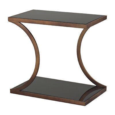 Misterton Rectangle Side Table with Curved Legs by Sterling Industries