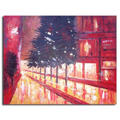 White Walls Evergreen Avenue Original Painting on Canvas