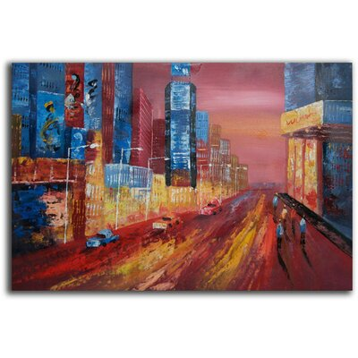 White Walls The Boardwalk Original Painting on Canvas