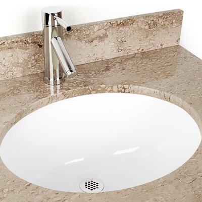 D'Vontz Large Oval China Bathroom Sink