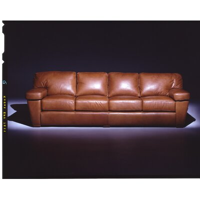 Prescott Leather Sofa by Omnia Furniture