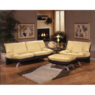 Omnia Furniture Princeton Leather Living Room Set & Reviews  Wayfair