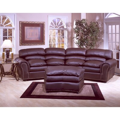Williamsburg Leather Sofa by Omnia Furniture