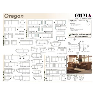 Omnia Furniture Oregon Leather Chair and a Half