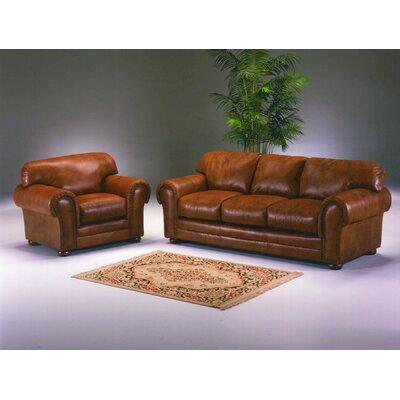 Cheyenne 3 Seat Leather Sofa Set by Omnia Furniture