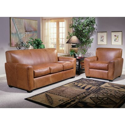 Omnia Furniture Jackson Leather Sofa & Reviews