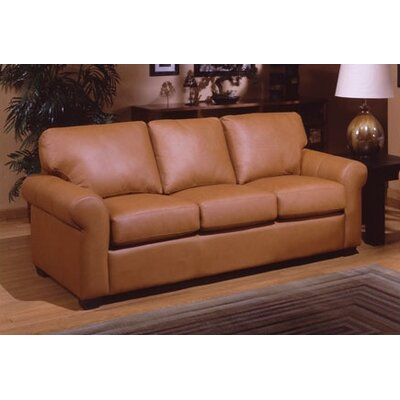 Omnia Furniture West Point Leather Sofa