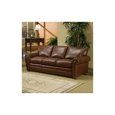 Savannah Leather Sleeper Sofa by Omnia Furniture