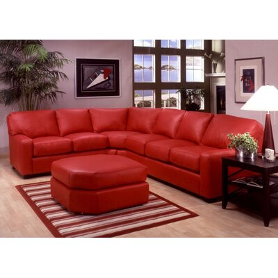 Albany Leather Sectional by Omnia Furniture