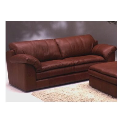 Encino Leather Sofa by Omnia Furniture