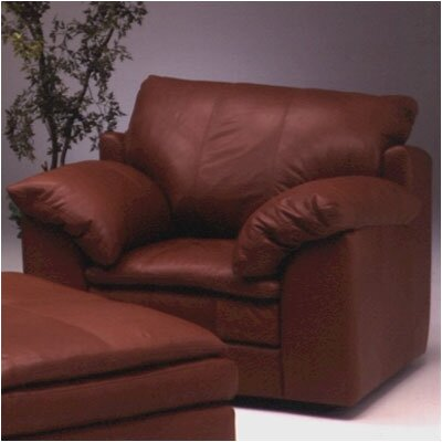 Encino Leather Chair and Ottoman by Omnia Furniture