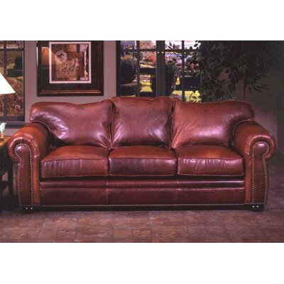Monte Carlo Queen Leather Sleeper Sofa by Omnia Furniture