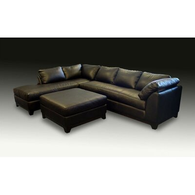 Villa Leather Sectional by Omnia Furniture