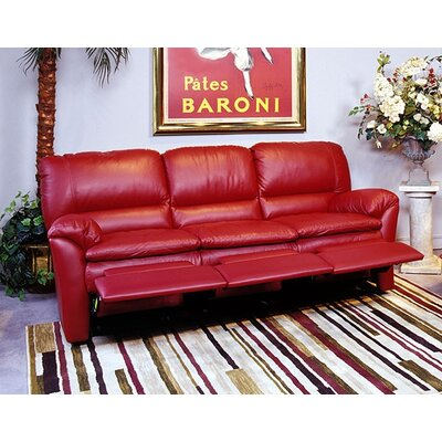 Luxor Leather Reclining Sofa by Omnia Furniture