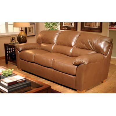 Omnia Furniture OTL1717 Cedar Heights Leather Loveseat