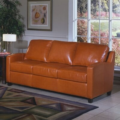 Chelsea Deco Leather Sleeper Sofa by Omnia Furniture
