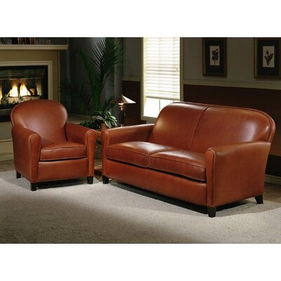 Buenos Aires 2 Seat Leather Sofa Set by Omnia Furniture