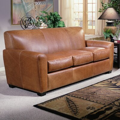 Jackson Leather Sofa by Omnia Furniture