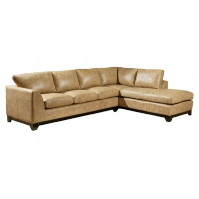 City Sleek Leather Sofa by Omnia Furniture