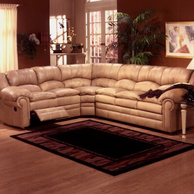 Riviera Leather Reclining Sectional by Omnia Furniture