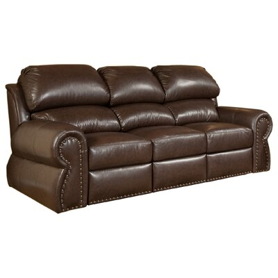Cordova Full Leather Sleeper Sofa by Omnia Furniture