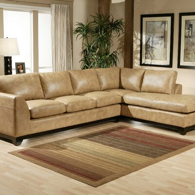 City Sleek Leather Sectional by Omnia Furniture
