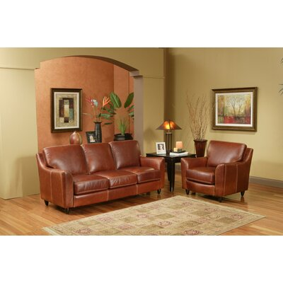 Great Texas 3 Seat Leather Sofa Set by Omnia Furniture
