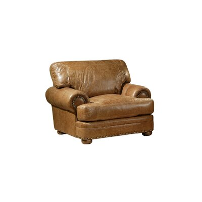 Omnia Furniture Houston Leather Chair & Reviews