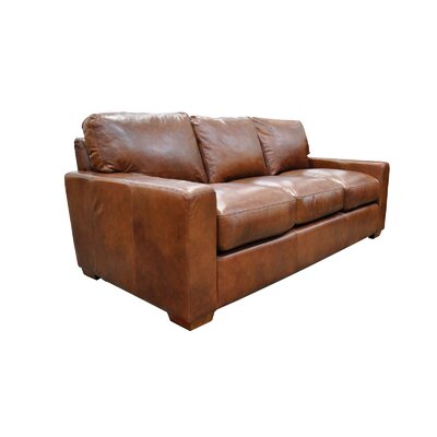 City Craft Leather Sofa by Omnia Furniture
