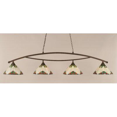 Bow 4 Light Billiard Light by Toltec Lighting