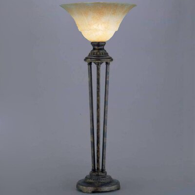 """Toltec Lighting Marble 32"""" H Table Lamp with Bowl Shade"""
