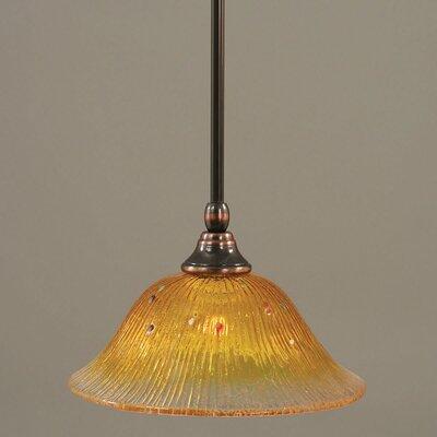 Toltec Lighting Stem Mini Pendant With Hang Straight Swivel