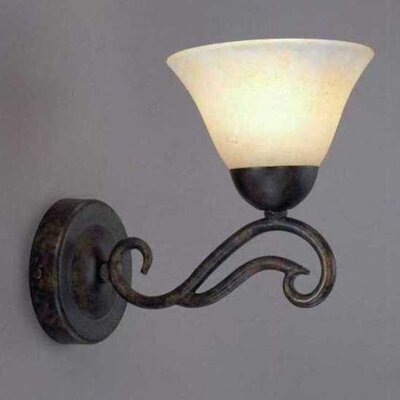 Toltec Lighting Olde Iron 1 Light Wall Sconce
