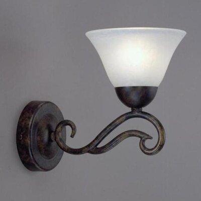 Toltec Lighting Olde Iron 1 Light Wall Sconce