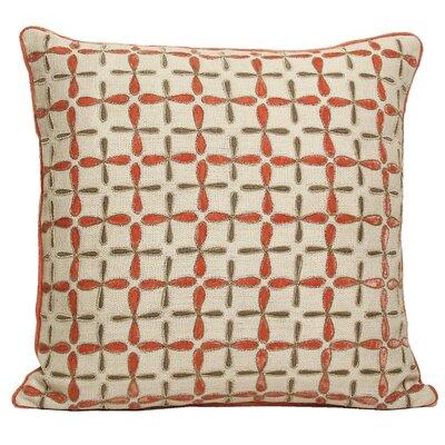 Kevin O'Brien Studio Petal Flower Embellished Linen Throw Pillow