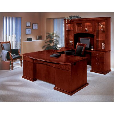 Del Mar U-Shape Executive Desk with Hutch by DMI Office Furniture