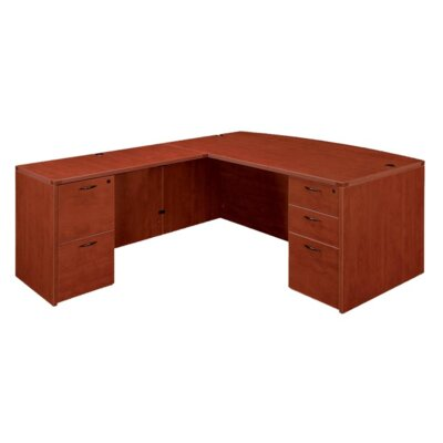 DMI Office Furniture Fairplex Executive Desk with Bow Front