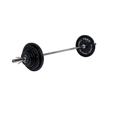 York Barbell Legacy 300 lb Olympic Weight Set with Barbell