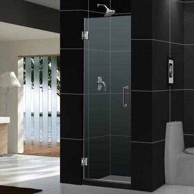 """UniDoor 72"""" x 23"""" Pivot Frameless Hinged Shower Door Product Photo"""