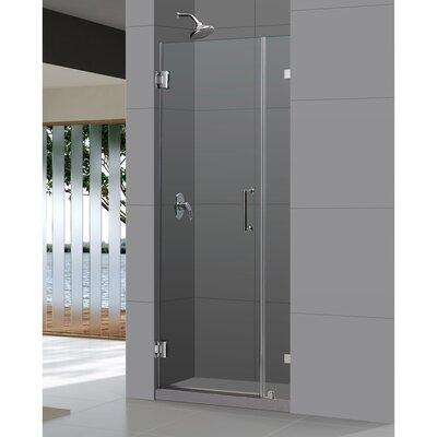 """UniDoor Lux 72"""" x 31"""" Pivot Frameless Hinged Shower Door Product Photo"""