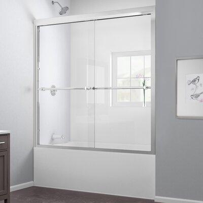 "Duet 58"" x 59"" Sliding Frameless Tub Door Product Photo"