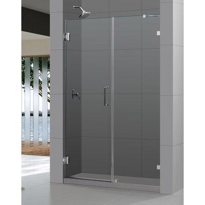 """UniDoor Lux 72"""" x 60"""" Pivot Frameless Hinged Shower Door Product Photo"""