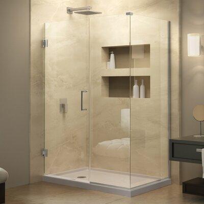 "Unidoor Plus 34"" W x 52"" D Hinged Shower Enclosure Product Photo"