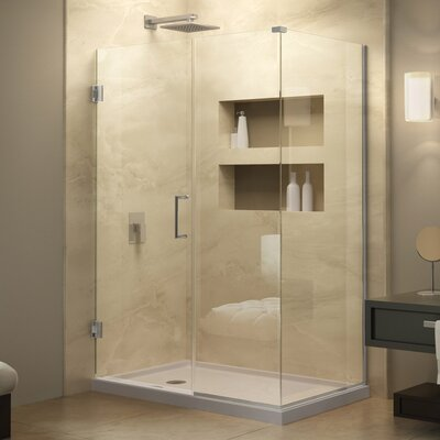 "Unidoor Plus 34"" W x 59"" D Hinged Shower Enclosure Product Photo"