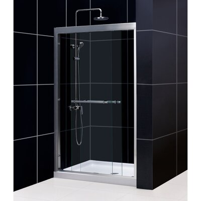 "Duet 72"" x 48"" Sliding Frameless Shower Door Product Photo"